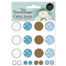 The Snowman Soft Fabric Brads